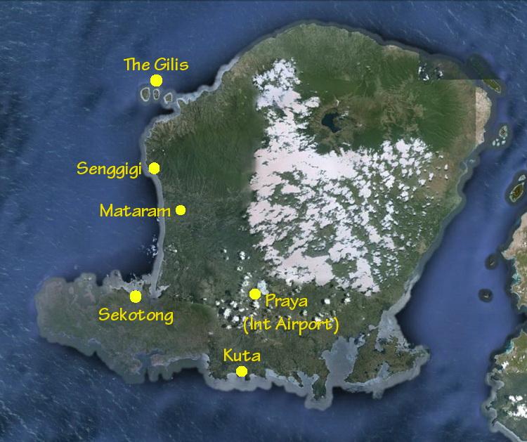 Lombok Island map