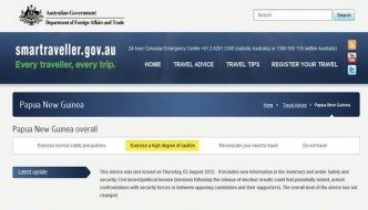 Australian Government travel advice on Papua New Guinea