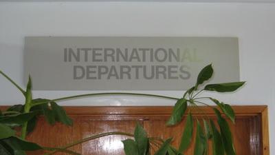 Milne Bay Province Logistics - Alotau airport International Departure Lounge