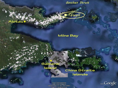 Tawali Dive Resort location