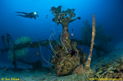 The Deep Pete Wreck near Kavieng in New Ireland, Papua New Guinea