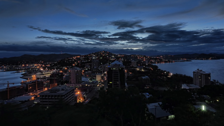 Panoramic image of Port Moresby from  Paga Hill