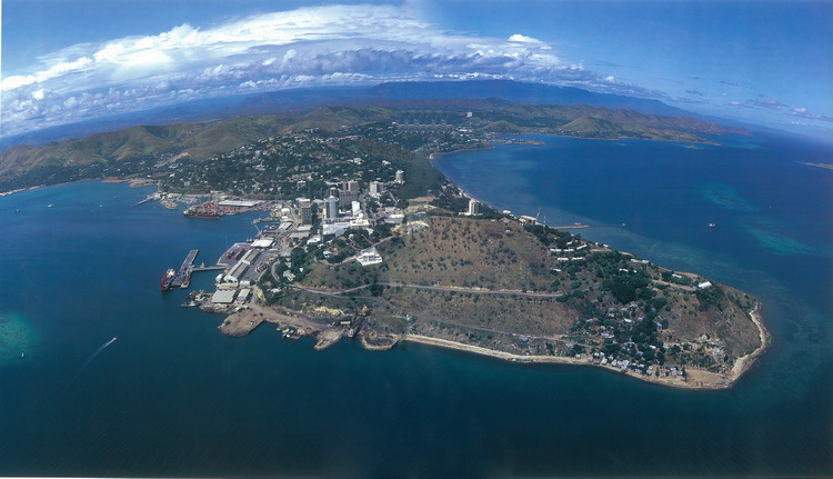 Aerial Photo of Port Moresby - Courtesy of Rocky Roe & Neil Whiting