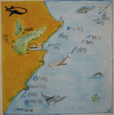 Tofo dive site map
