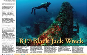 X-Ray magazine article on the B17 Black Jack Wreck in PNG