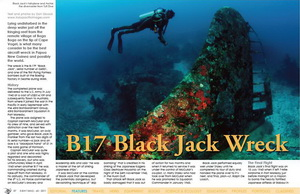 B-17F Black Jack - X-Ray magazine article on the B17 Black Jack Wreck in PNG