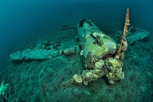 Guide to Diving Kimbe Bay - The Mitsubishi Zero Wreck in Kimbe Bay