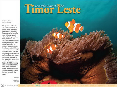Timor Leste article - X-Ray magazine