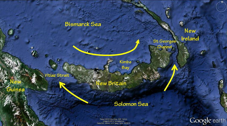 Kimbe Bay's Incredible Biodiversity - New Britain current map