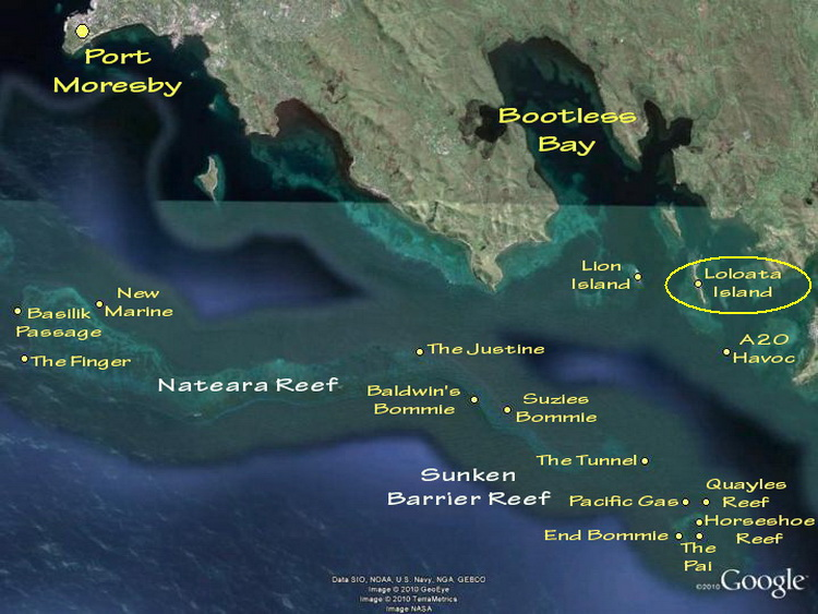 Port Moresby Dive Sites