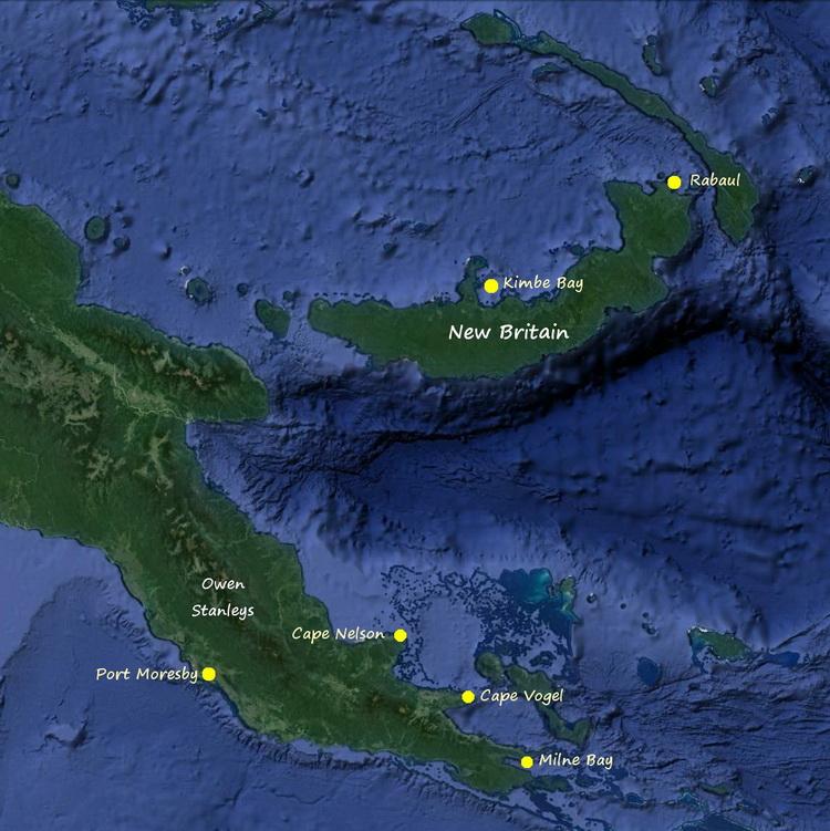 History of the B-17F Black Jack Wreck - Map of Black Jack's Last Flight