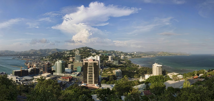 The view over Port Moresby from Paga Hill