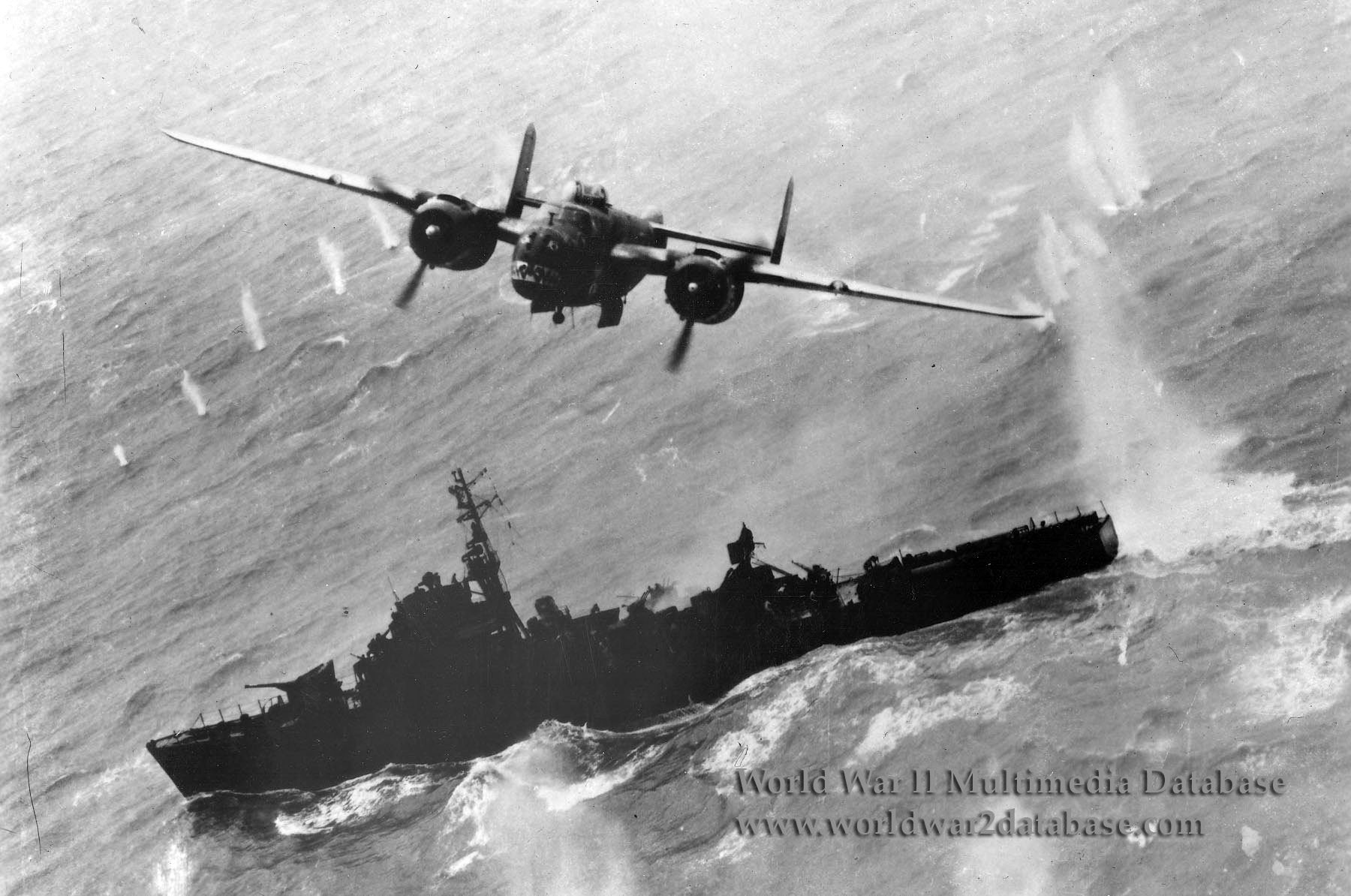 "History of the B-17F Black Jack Wreck - A B-25J Mitchel Bomber ""Skip Bombing"" during WWII"