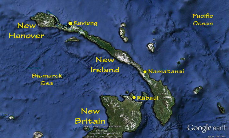 Map of New Ireland Province