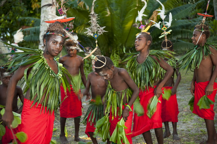 """New Ireland Province - A Traditional """"Sing Sing"""" at Lissenung Resort near Kavieng"""