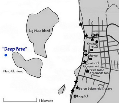The Location of the Deep Pete Wreck