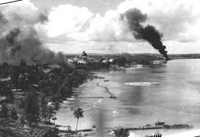 Kavieng dive sites - Kavieng Harbor in 1944 - Courtesy of Scuba Ventures