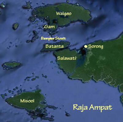 The Main Dive Areas of Raja Ampat