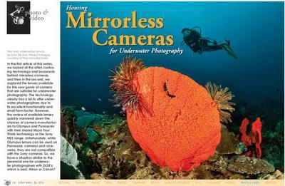 Choosing an underwater housing for mirrorless cameras