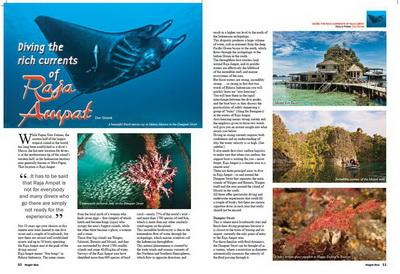 Nuigini Blue magazine - Raja Ampat article
