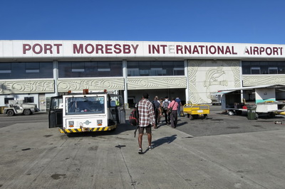 Transiting through Port Moresby
