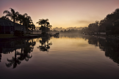 The Crystal River manatees - Dawn on Kings Bay
