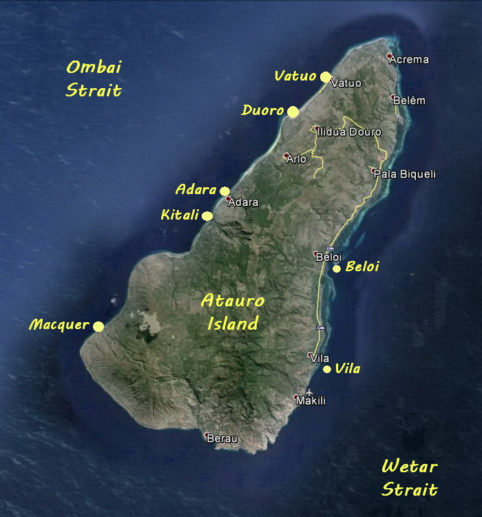 Atauro Island Dive Site Map