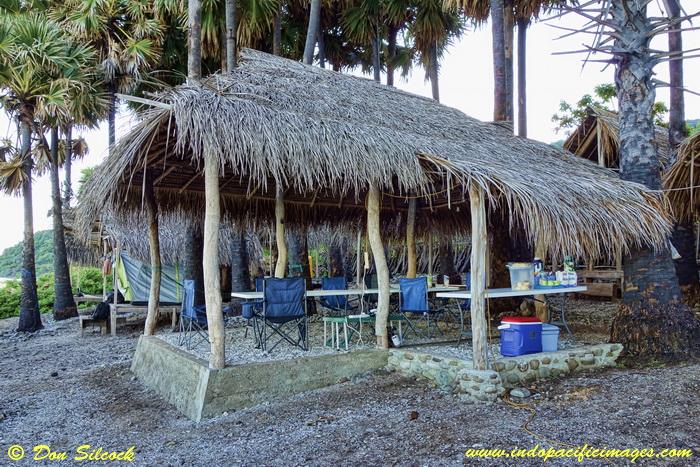 Bush style eating area at Adara Eco-Camp