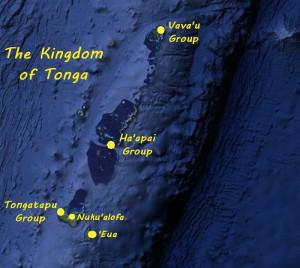Tongan logistics - Map of the Island Groups of Tonga