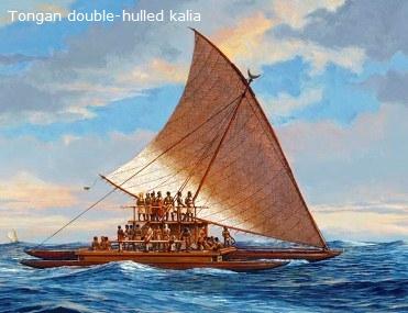 Tongan Kalia canoe
