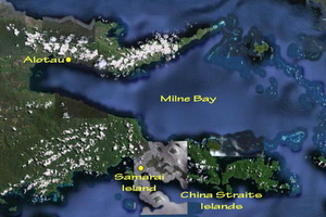 Diving Milne Bay - Map of Milne Bay