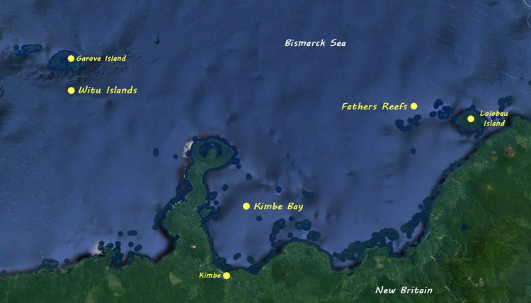 Febrina - Kimbe Bay map