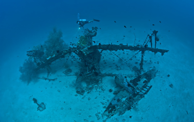 "Aircraft Wrecks of Papua New Guinea - The ""Deep Pete"" Wreck in Kavieng"